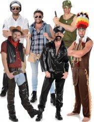 Costume di gruppo Star della disco per uomo
