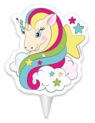 Candela compleanno unicorno 8 cm
