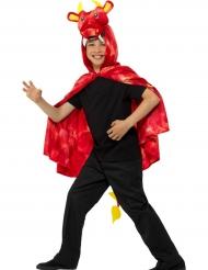 Mantello da dragone rosso per bambino