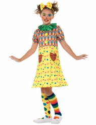 Costume da clown divertente per bambina
