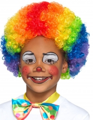 Parrucca da clown multicolore per bambino