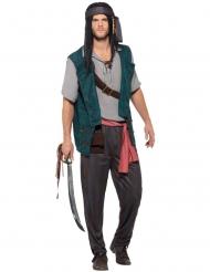Costume da pirata turchese per uomo