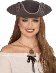 Cappello da pirata grigio
