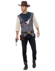 Costume deluxe cowboy per uomo