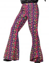 Pantalone hippie flower uomo