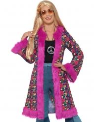 Cappotto da Hippie Fucsia per donna
