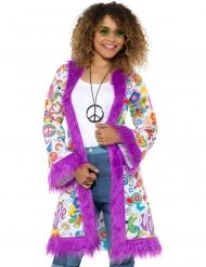 Giacca lunga hippie anni 60 per donna
