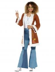 Cappotto hippie con pelliccia per donna