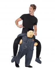 Costume uomo sulle spalle di dittatore coreano per adulto