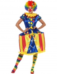 Costume da clown con giostra luminosa per donna