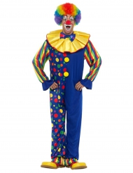 Costume da clown blu per uomo