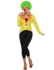 Giacca a coda di rondine da clown per donna