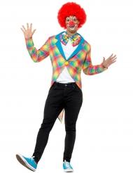 Giacca da clown con coda di rondine per adulto