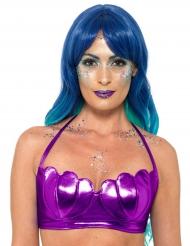 Top da sirena viola per donna