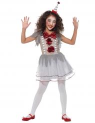 Costume clown vintage bambina