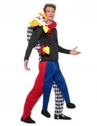 Costume da clown assassino alle spalle per uomo