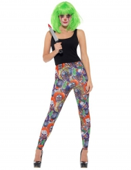 Leggings con clown malefici per donna