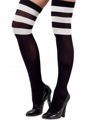 Calze nere opache e bianche per donna