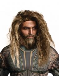 Parrucca e barba da Aquaman™ per adulto