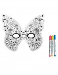 Maschera da farfalla lavabile con 3 pennarelli