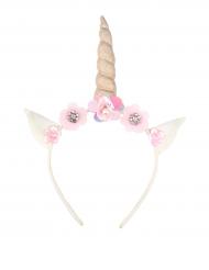 Cerchietto unicorno con fiori per bambina