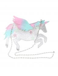 Borsa Unicorno bianco con brillantini