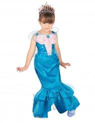 Costume da sirena rosa e azzurro per bambina