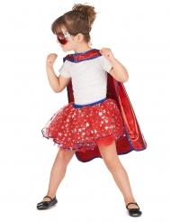 Costume da Super eroina rosso e blu per bambina