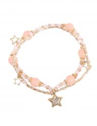 Braccialetto stelle rosa per bambina
