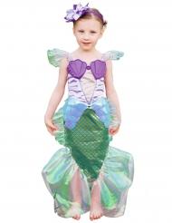 Costume da sirena viola e dorato con cerchietto per bambina