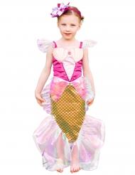 Costume da Sirena rosa e dorato per bambina