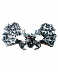 Mascherina da pipistrello argentato per bambina
