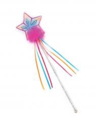 Bacchetta con brillantini arcobaleno per bambina