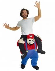 Costume uomo sulle spalle di idraulico rosso adulto Morphsuits™