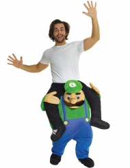 Costume uomo sulle spalle di idraulico verde adulto Morphsuits™