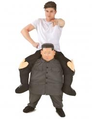 Costume uomo sulle spalle di Kim Jong Un adulto Morphsuits™
