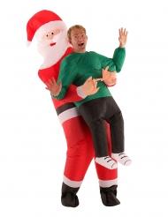 Costume uomo portato da Babbo Natale per adulto Morphsuits™