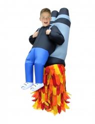 Costume gonfiabile bambino portato da un Jet Pack Morphsuits™