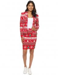 Costume Mrs Albero di Natale rosso donna Suitmeister™