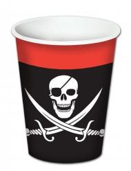 8 Bicchieri di carta Pirata
