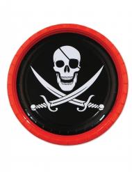 8 Piatti di carta Pirata