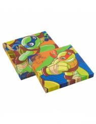 20 Tovaglioli in carta Tartarughe Ninja™ 33 cm