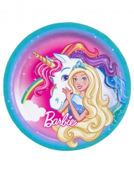 8 Piatti in cartone Barbie™ 23 cm