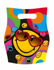 6 Buste regalo Smiley World™ 16 x 23 cm