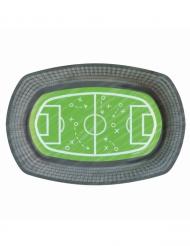 6 Piatti in cartone campo da calcio