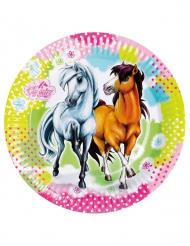 8 Piatti in cartone Charming Horse 23 cm