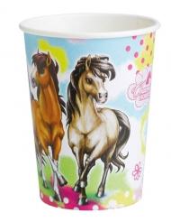 8 Bicchieri in cartone Charming Horse 250 ml