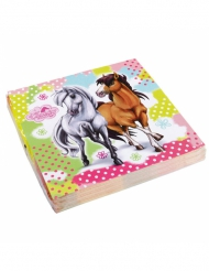 20 Tovaglioli in carta Charming Horse