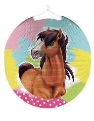 Lanterna rotonda di carta Charming Horse 25 cm