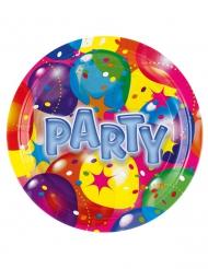 8 Piatti di carta Party multicolor
